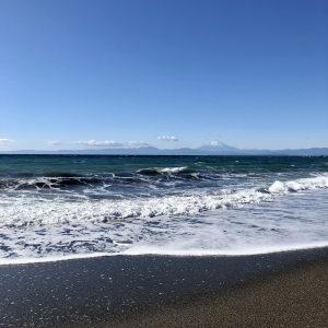 2021年元日の秋谷海岸